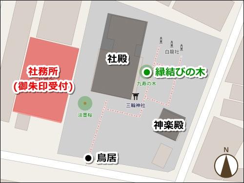 三輪神社(名古屋市中区大須)御朱印マップ