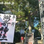 洲崎神社(名古屋)で御朱印を頂きました。鳥居が想像以上に小さ過ぎた