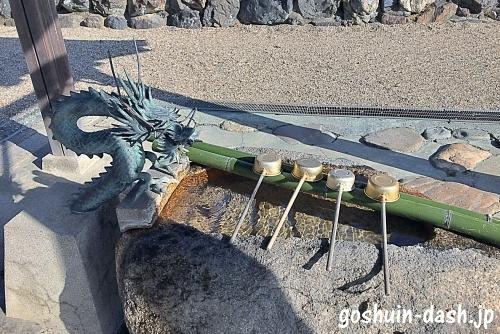 小幡白山神社(名古屋市守山区)の手水舎