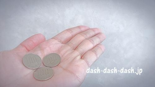 300円(100円玉3枚)