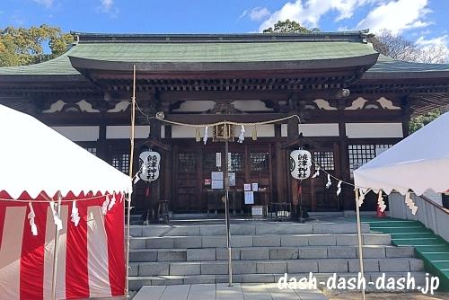 饒津神社拝殿