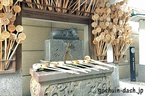 桜天神社「願の水の牛」