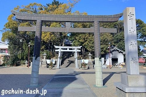 小幡白山神社(名古屋市守山区)の鳥居