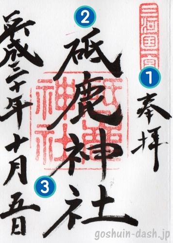 御朱印の見方(神社・墨書き)