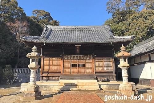 甲山八幡宮(岡崎市)の拝殿