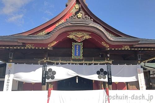 岩津天満宮の拝殿