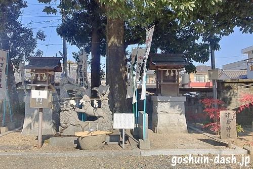 守山龍神社(左)と津島神社(右)-廿軒家神明社摂社