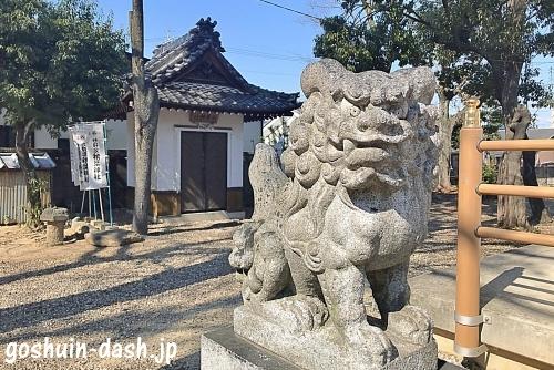 廿軒家神明社の狛犬