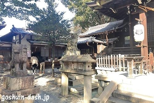 本土神社の御朱印受付場所(授与所・拝殿左)