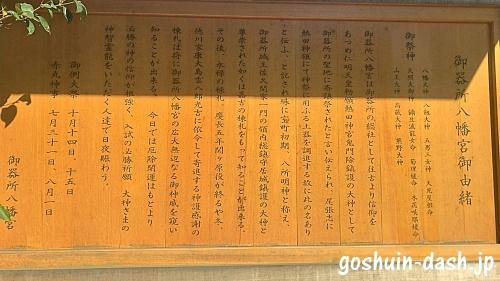 御器所八幡宮御由緒