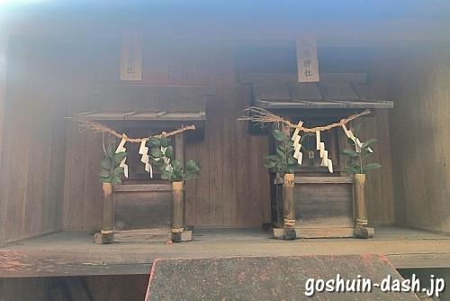 津島神社と秋葉神社(児ノ口社境内)