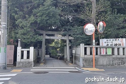 渋谷氷川神社の東鳥居