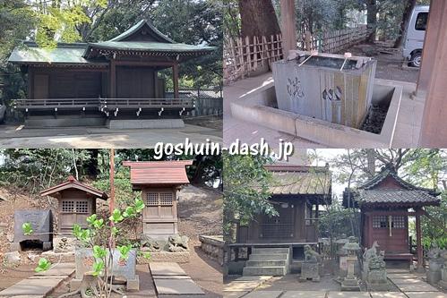 渋谷氷川神社境内(神楽殿・手水舎・境内社)