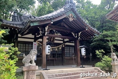 蝮ヶ池八幡宮社殿(拝殿)