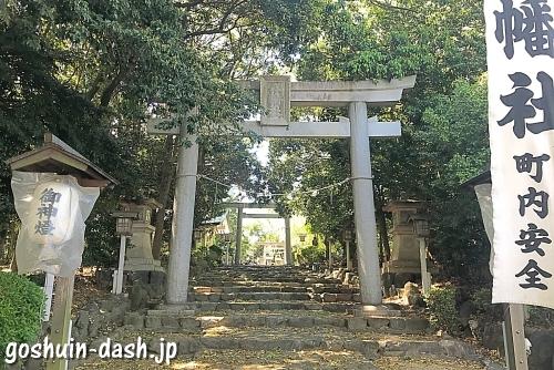 古鳴海八幡社の東鳥居