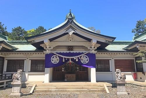 古鳴海八幡社の拝殿(社殿)