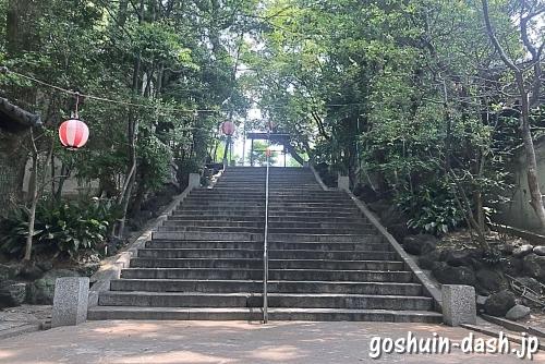 蝮ヶ池八幡宮の表参道階段
