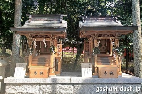天王社と針名天神社(針名神社末社)