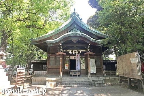 闇之森八幡社の社殿(拝殿)