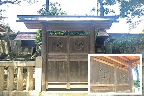橘社と橘町の屋根神(名古屋日置神社境内)