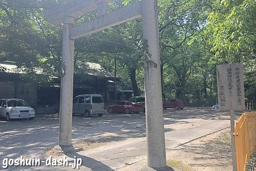 闇之森八幡社の駐車場