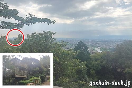 尾張戸神社(東谷山山頂)西側展望台