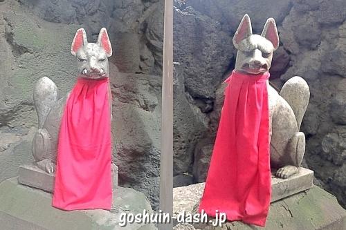 お福稲荷(名古屋市北区)の狛狐