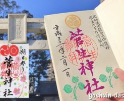 菅生神社(岡崎市)の御朱印(2種類)