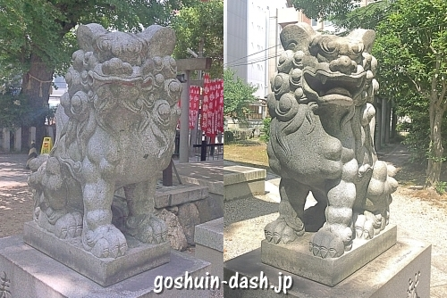 泥江縣神社(名古屋)の狛犬