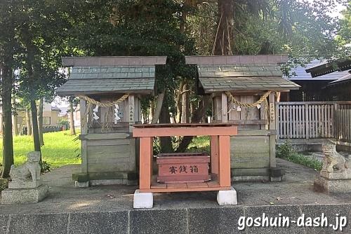 久保一色神明社(愛知県小牧市)境内社(津島神社・鹿島神宮)