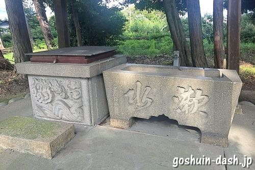 久保一色神明社(愛知県小牧市)の手水舎と井戸