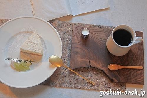 cafeカシータのよこ(豆腐のレアチーズケーキ・ドリップコーヒー)