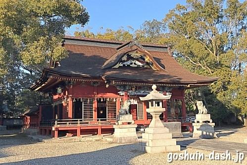伊賀八幡宮(岡崎市)の拝殿(社殿・国の重要文化財)