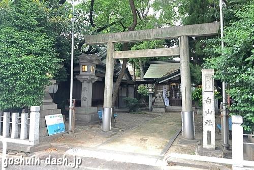榊森白山社(名古屋市中区)鳥居