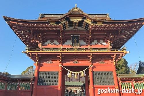 伊賀八幡宮(岡崎市)の随神門(国の重要文化財)