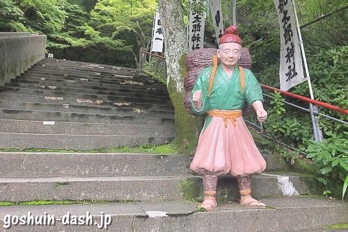 おじいさんのコンクリート像(犬山桃太郎神社)
