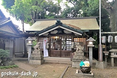 榊森白山社(名古屋市中区)拝殿(社殿)