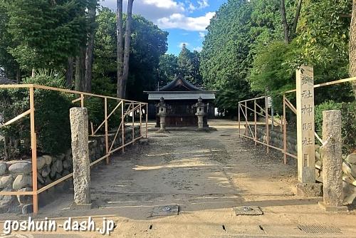 久保一色神明社(愛知県小牧市)の標柱(郷社)