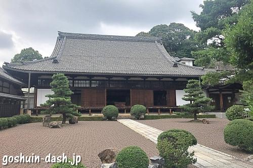 瑞泉寺(愛知県犬山市)の本堂と庭園