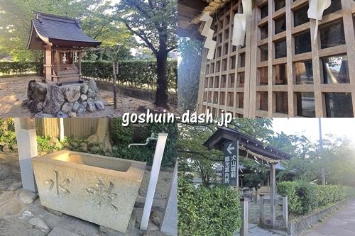 犬山神社(愛知県犬山市)境内(熱田神宮・神馬・手水舎・北門)