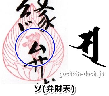 宝珠とソ(弁財天の梵字・犬山寂光院の御朱印)