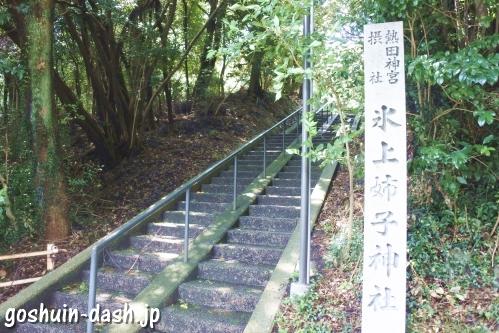 氷上姉子神社(名古屋市緑区)東入口
