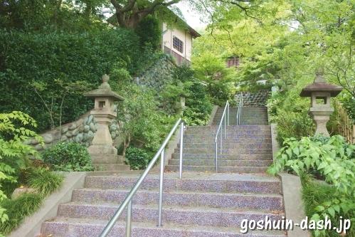 八事塩竈神社(名古屋市天白区)参道階段