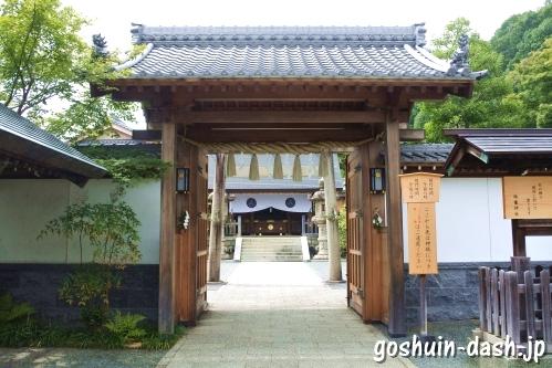 八事塩竈神社(名古屋市天白区)の門