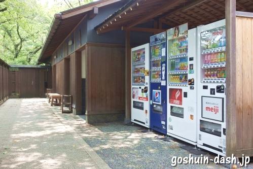 八事塩竈神社(名古屋市天白区)自動販売機とトイレ