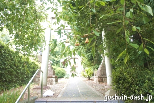 八事御嶽神社(名古屋市天白区)鳥居