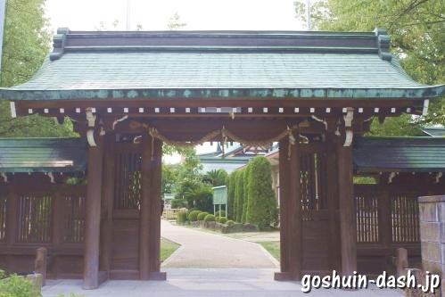 植田八幡宮(名古屋市天白区)東門