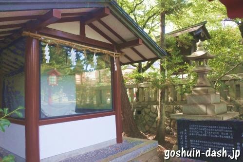 神輿の格納小屋(刈谷市原稲荷神社)
