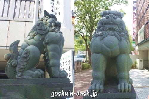 成田山萬福院(名古屋市中区栄)狛犬