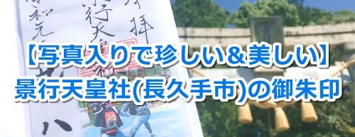 景行天皇社(長久手市)の写真入り御朱印(棒の手)